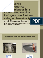 Performance Characteristics of a Condenser in a Vapor Compression Refrigeration System Using an Inverter Type and Conventional Type Compressor