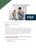 29.- Definiendo Los Roles en La Relacion Matrimonial