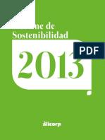 Informe de Sostenibilidad 2013 de Alicorp