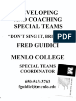 Menlo College Special Teams Overview