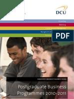 DCU Business School Postgraduate Brochure 2010