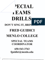Menlo College - Special Teams Drills