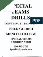 Menlo College - Special Teams Drills