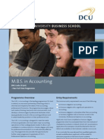 DCU MBS in Accounting Factsheet