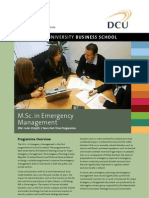 DCU MBS in Emergency Management