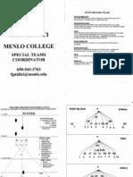 Menlo College - Punt Return