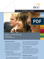 DCU MBS in Marketing Factsheet