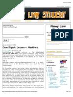 2-2. G.R. No. L-63419 Lozano v Matinez (Digest)