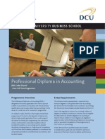 DCU Professional Diploma in Accounting Factsheet