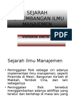 3. Sejarah Perkembangan Ilmu Manajemen
