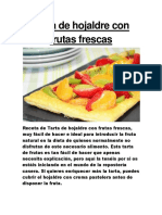 Tarta de Hojaldre Con Frutas Frescas
