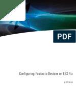 Configuring the Fusion-io IoDrive and IoDrive Duo on ESX 4.x