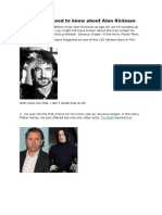 6 Things You Need to Know About Alan Rickman