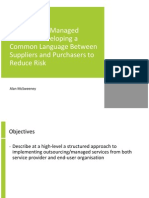 Outsourcing and Managed Services - Developing a Common Language Between Suppliers and Purchasers to Redu