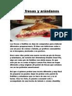 Pie de Fresas y Arándanos