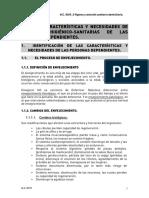 Características y Necesidades de Atención Higiénico-sanitarias de Las Personas Dependientes.