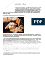 Trik Menang Bermain Poker Online