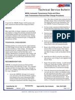 Transmission Flushing Procedures