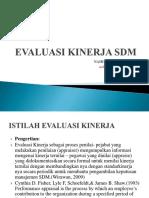 Materi Evaluasi Kinerja s1 2013
