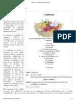 Citoplasma - Wikipedia, La Enciclopedia Libre