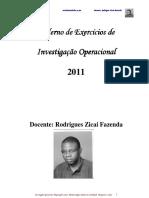 Fichas de Investigação Operacional