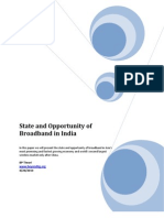 State and Opportunity of Broadband in India v1.0