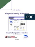 Refrigerant Inventory TechNote