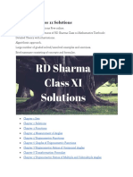 Rd Sharma Class 11 Solutions