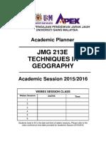 Jmg 213e - Perancangan Akademik 2015-2016