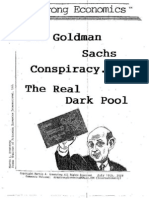Goldman Sachs Conspiracy the Real Dark Pool