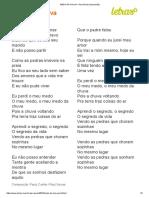 MEDO DA CHUVA - Raul Seixas (Impressão)