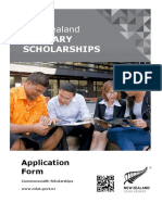 New Zealand Tertiary Scholarships Application Form