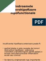 Sindroamele anterohipofizare hipofunctionale