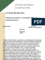 Ingrijirea Pacientului Cu Arteriopatie Obliteranta a Membrului Inferior