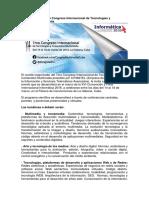 Congreso Internacional de Tecnologías y Contenidos Multimedia