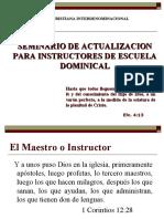 Actualizacion Instructores Escuela Dominical