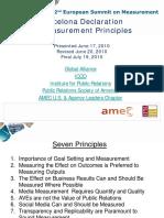 Barcelona Declaration of Measurement Principles