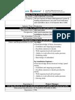 Job Profile Template-Aquatronic System