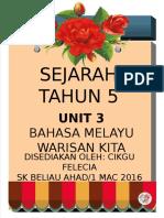 Sejarah Tahun 5-Bahasa Melayu