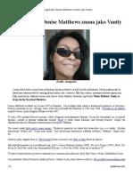 Ewangelistka Denise Matthews Znana Jako Vanity