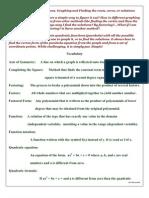 Quadraic Equations