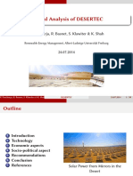 Presentation on DESERTEC Project