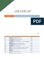 Use Case List