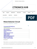 Metal Detector Circuit Diagram and Working