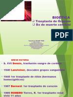 2015 15 Octubre Trasplantes Órganos y Muerte Cerebral