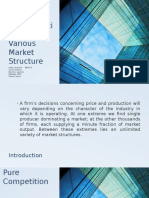 Price and Output Determination in Various Market Structure