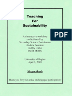 Teaching for Sustainability Interactive Workshop
