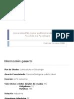 Licenciatura Psicologia UNAM Plan de Estudios 2008 Informacion y Estructura
