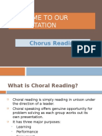Chorus Reading