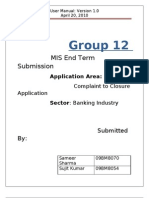 Group 12 _User Manual_Banking-Complaint to Closure Sytem